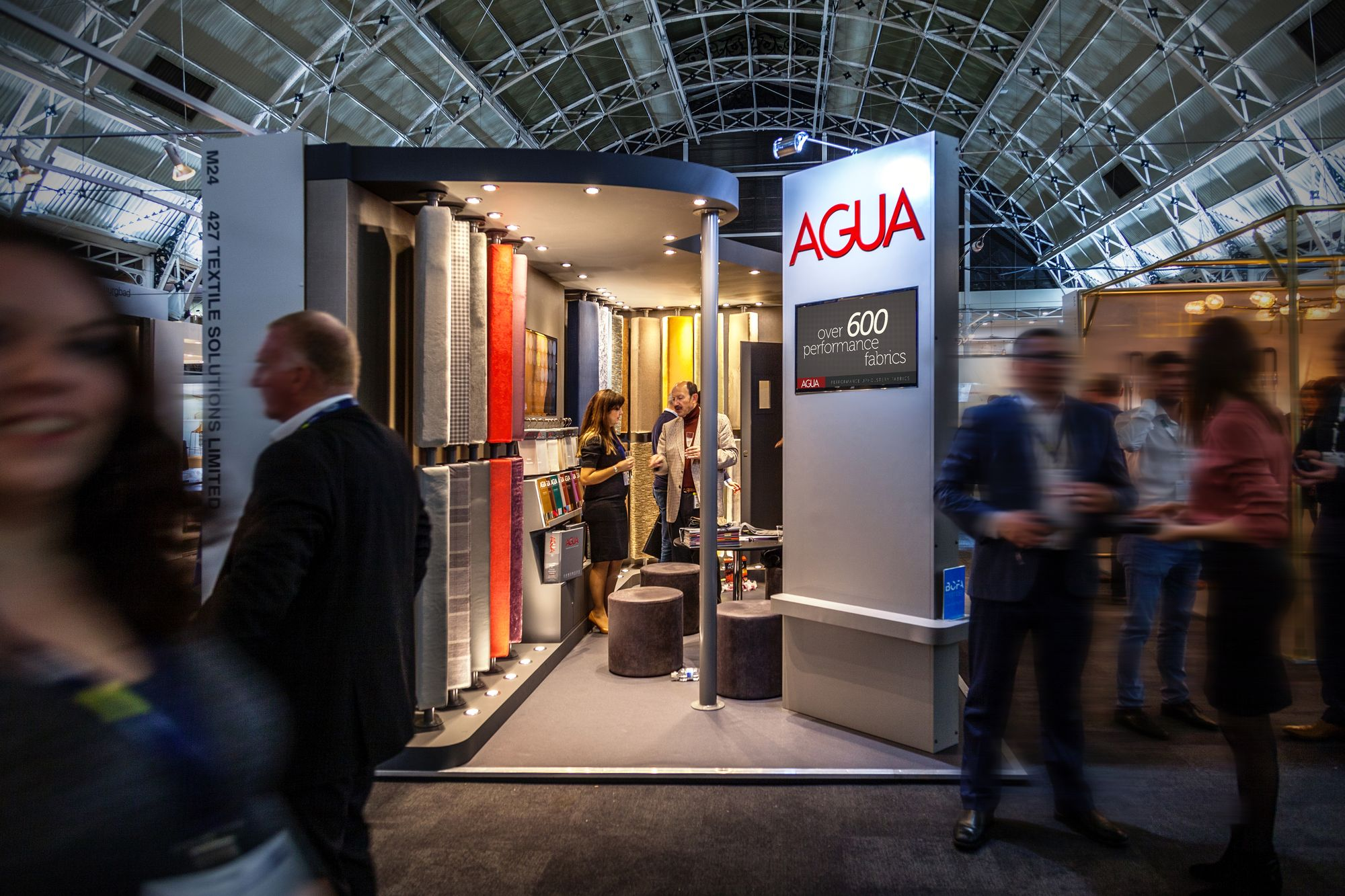 Agua Exhibition Stand at the Sleep & Eat Event 2017